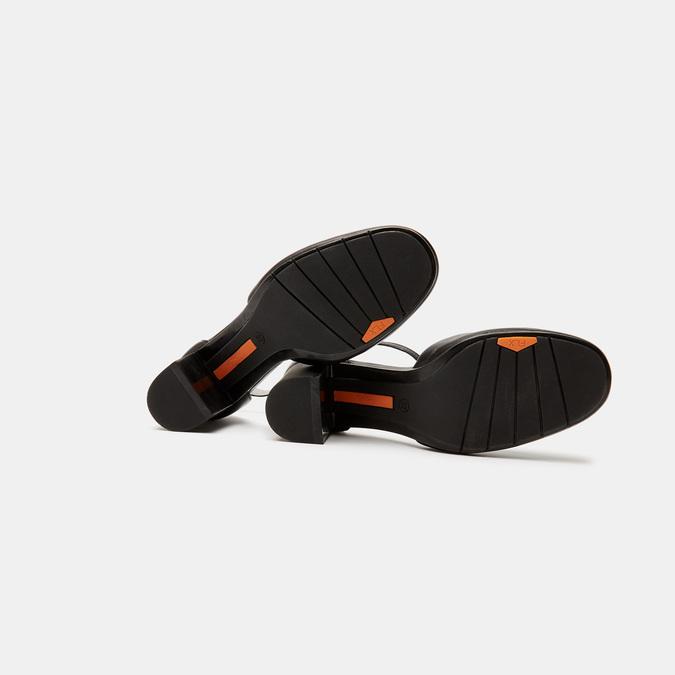 Escarpins en cuir flexible, Noir, 624-6240 - 19