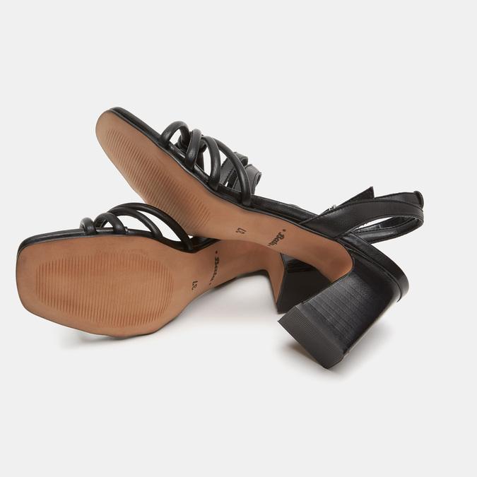 Sandales à demi-talon et à bride autour de la cheville bata, Noir, 761-6884 - 16