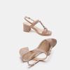 Sandales à talon large bata, Jaune, 769-8856 - 19