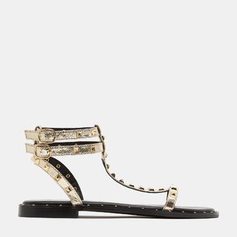 Sandales cloutées bata, Or, 561-8838 - 13