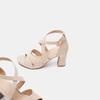 Sandales à bride autour de la cheville bata, Rouge, 769-5891 - 19