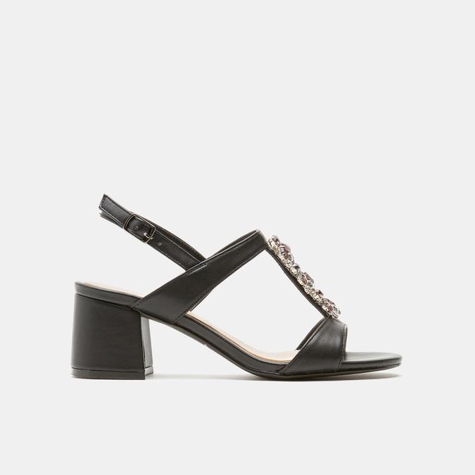 Sandales à talon large bata, Noir, 761-6856 - 13