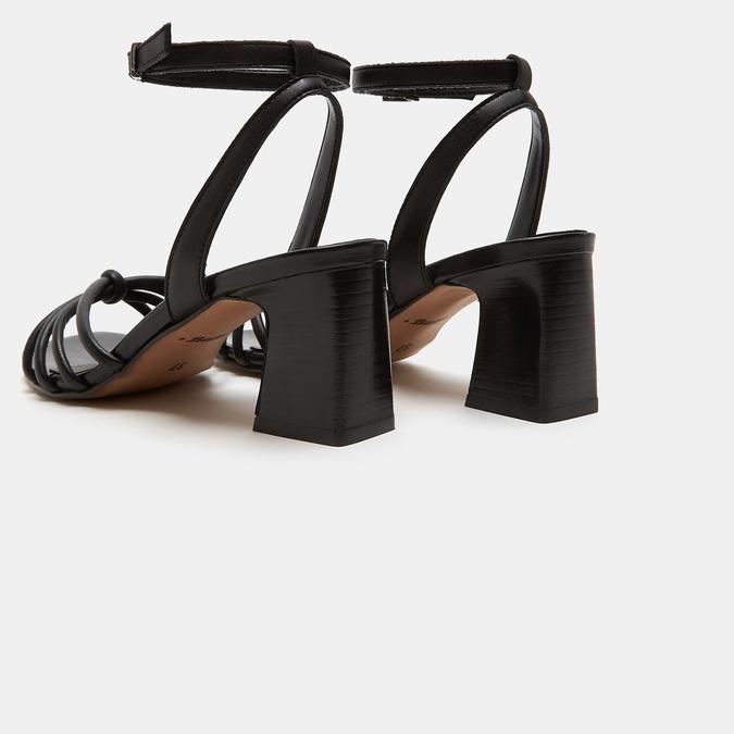 Sandales à demi-talon et à bride autour de la cheville bata, Noir, 761-6884 - 15