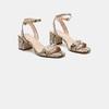 Sandales à talon large bata, Beige, 761-8872 - 16