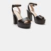 Sandales à talon large bata, Noir, 761-6873 - 16