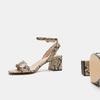 Sandales à talon large bata, Beige, 761-8872 - 19