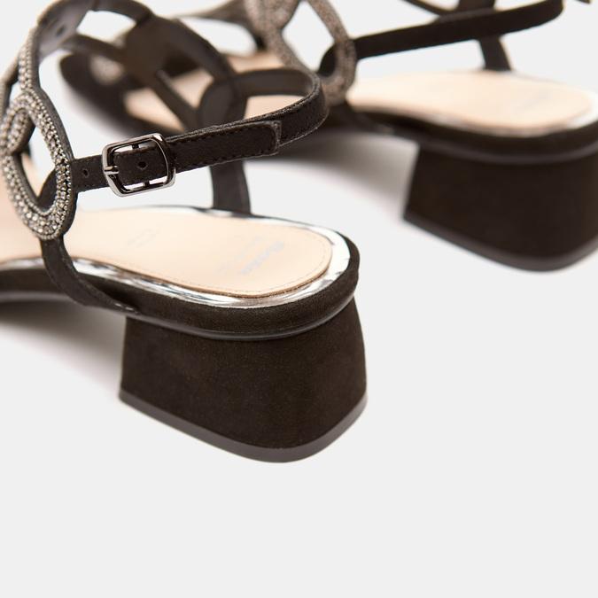 Sandales à talon large bata, Noir, 669-6215 - 17