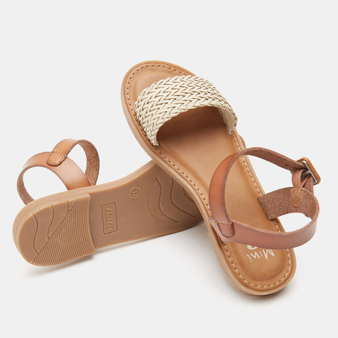 Sandales fille mini-b, Blanc, 361-1430 - 15