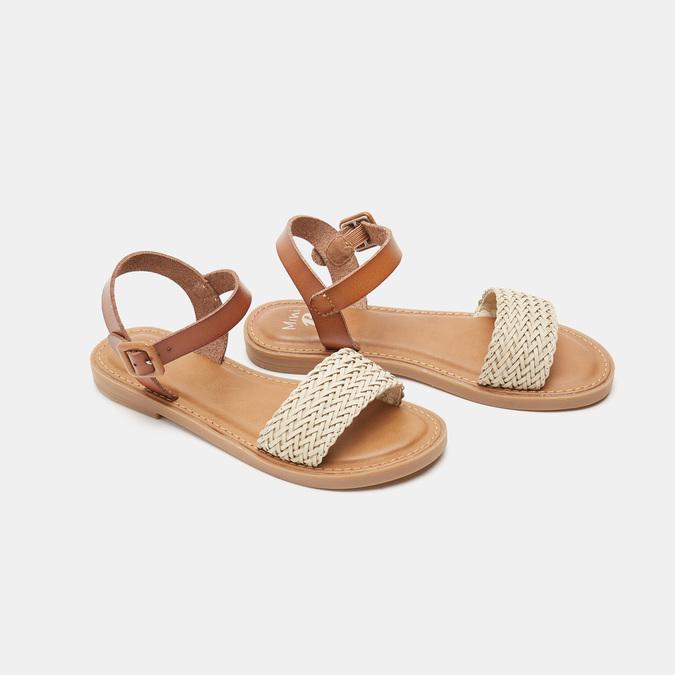 Sandales fille mini-b, Blanc, 361-1430 - 26