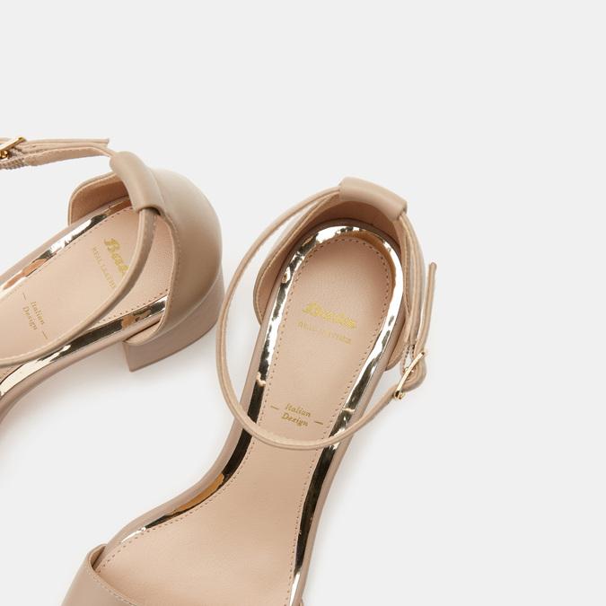 Sandales à talon large bata, Rose, 764-5862 - 19