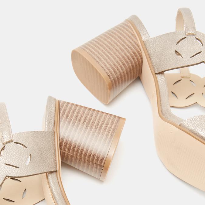 Sandales à talon large bata, bronze, 761-8860 - 15
