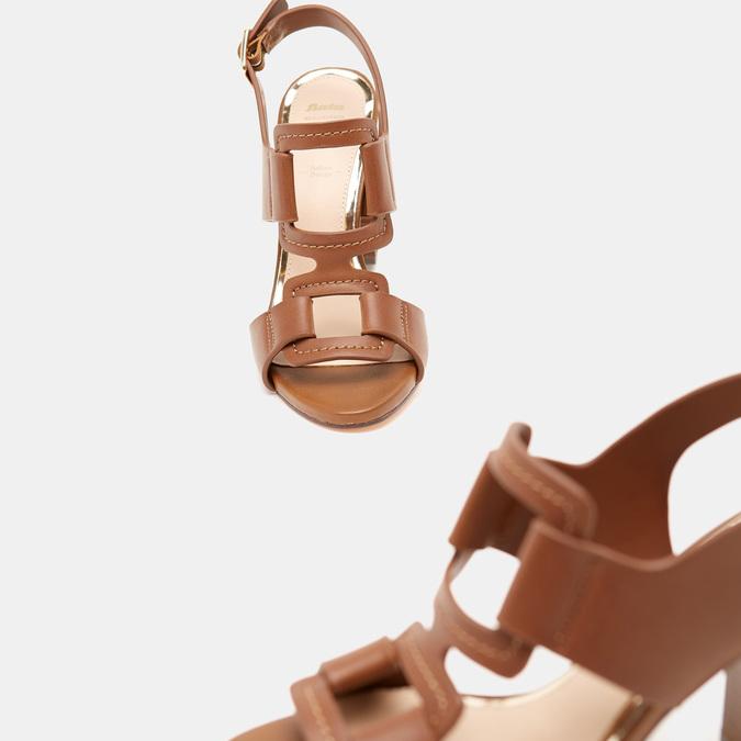 Sandales à talon large bata, Brun, 761-4849 - 19
