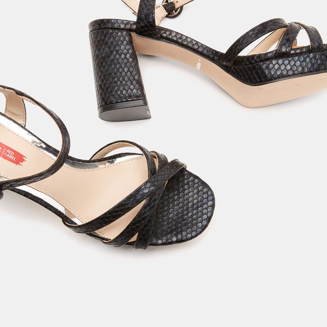 Sandales à demi-talon et à bride autour de la cheville bata-rl, Noir, 761-6852 - 17