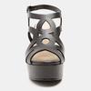 Sandales à talon large bata, Noir, 761-6850 - 26