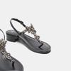 Sandales à demi-talon bata, Noir, 664-6408 - 19