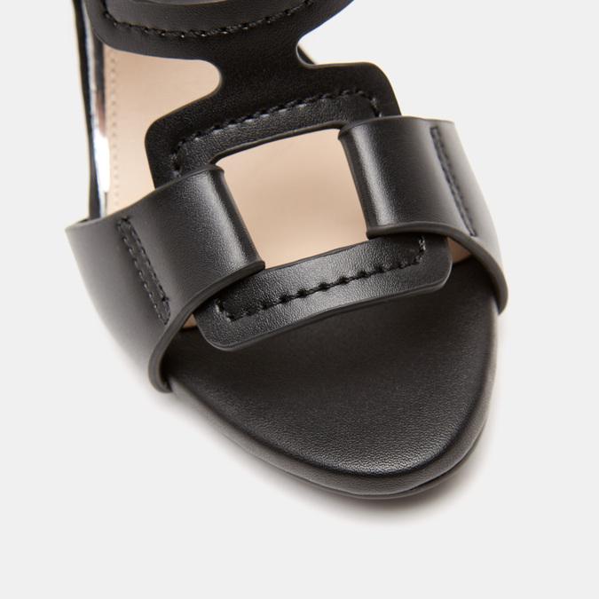 Sandales à talon large bata, Noir, 761-6849 - 26