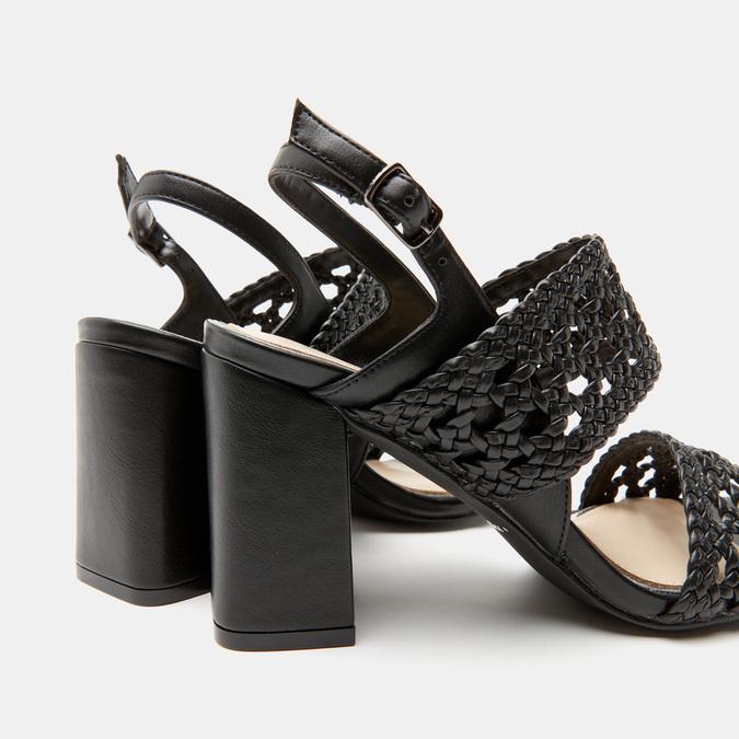 Sandales à talon large bata, Noir, 761-6861 - 26
