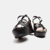 Sandales à talon large et à plateforme bata, Noir, 761-6890 - 19