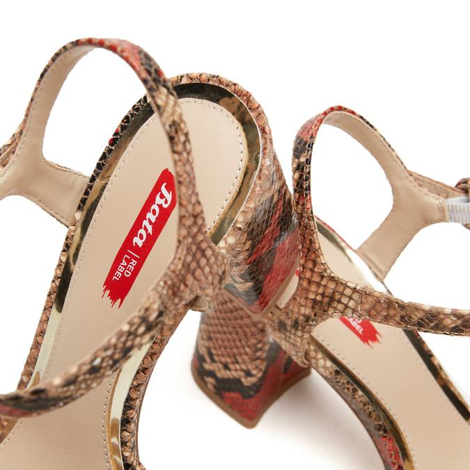 Sandales imprimé serpent bata-rl, Rouge, 761-5852 - 17