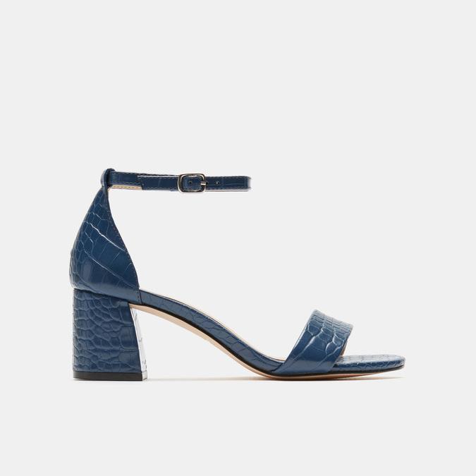 Sandales à talon large bata, Bleu, 761-9863 - 13