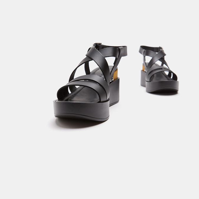 Sandales compensées bata, Noir, 764-6985 - 19