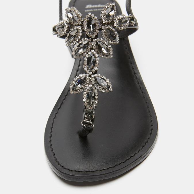 Sandales à demi-talon bata, Noir, 664-6408 - 26