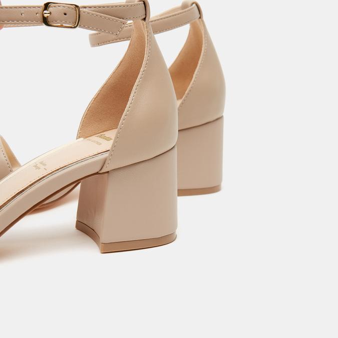 Sandales à talon large bata, Rose, 764-5862 - 15