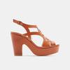 Sandales à talon large bata, Brun, 761-3850 - 13