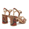 Sandales imprimé serpent bata-rl, Rouge, 761-5852 - 19