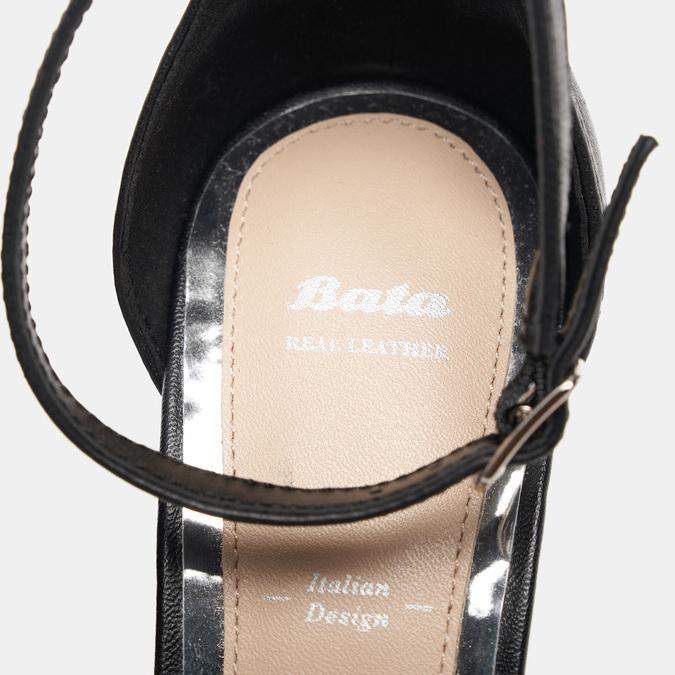 Sandales à talon large bata, Noir, 764-6862 - 16