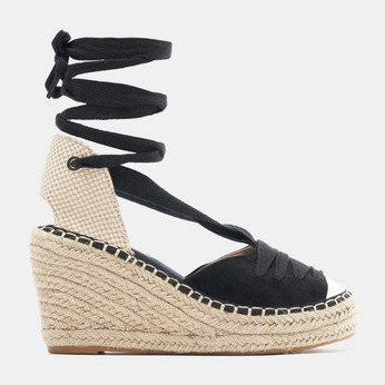 Sandales compensées bata, Noir, 769-6868 - 13