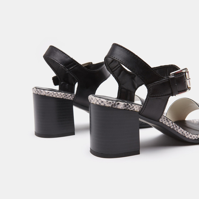 Sandales à plateforme bata, Noir, 764-6970 - 15