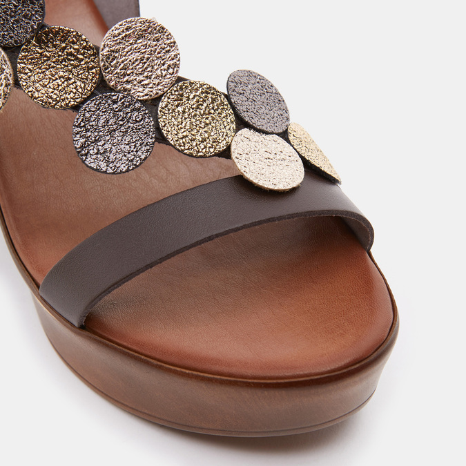 Sandales à plateforme bata-rl, Brun, 764-4990 - 26