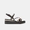 Sandales femme à plateforme bata, Noir, 661-6518 - 13