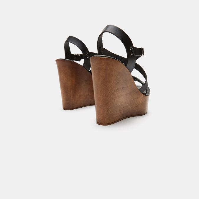 Sandales compensées bata-rl, Noir, 764-6981 - 15