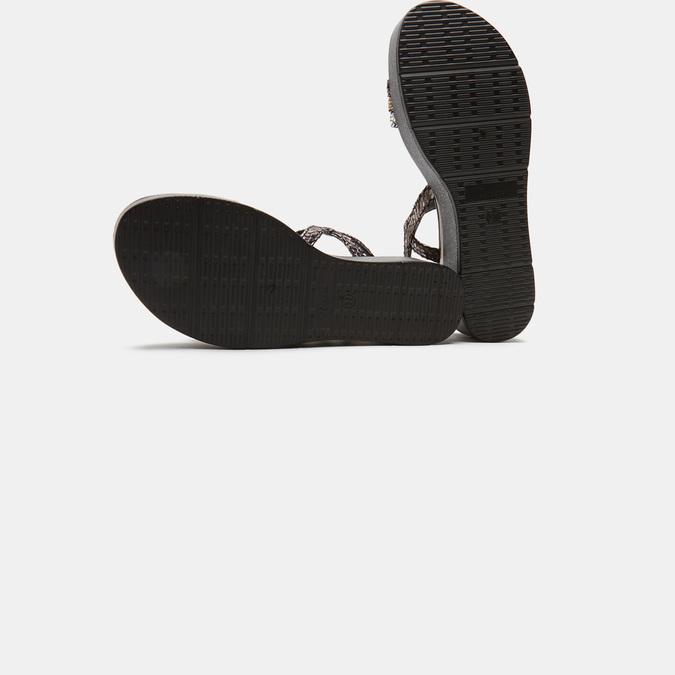 Sandales femme à plateforme bata, Noir, 661-6518 - 17