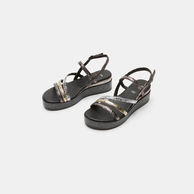 Sandales femme à plateforme bata, Noir, 661-6518 - 16