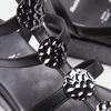Sandales femme à plateforme bata, Noir, 661-6519 - 16
