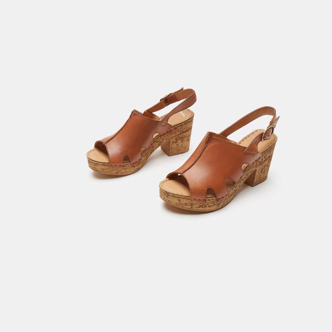 Sandales à plateforme bata, Brun, 764-3980 - 16