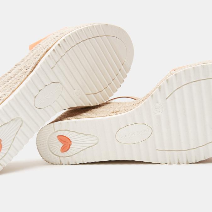 Sandales compensées bata, d'Orange, 769-5983 - 15