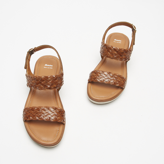 Sandales femme à plateforme bata, Brun, 664-4522 - 15