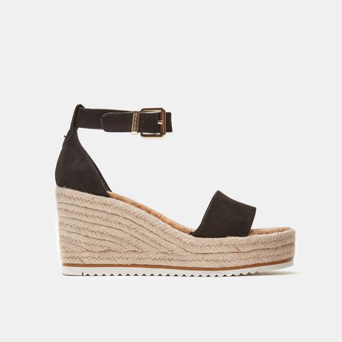 Sandales compensées bata, Noir, 769-6983 - 13