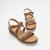Sandales à plateforme bata, Brun, 764-3941 - 26
