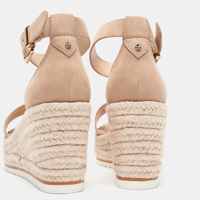 Sandales compensées bata, Beige, 769-8983 - 15