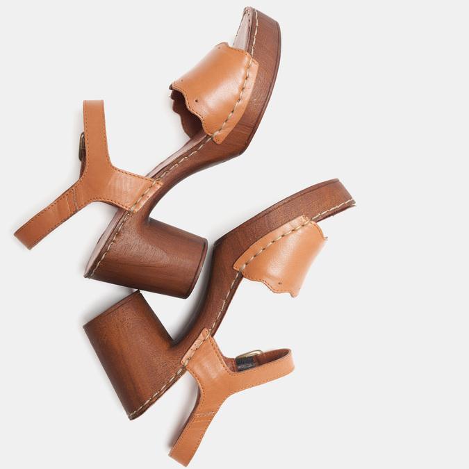 Sandales à talon bata, Brun, 764-4977 - 17