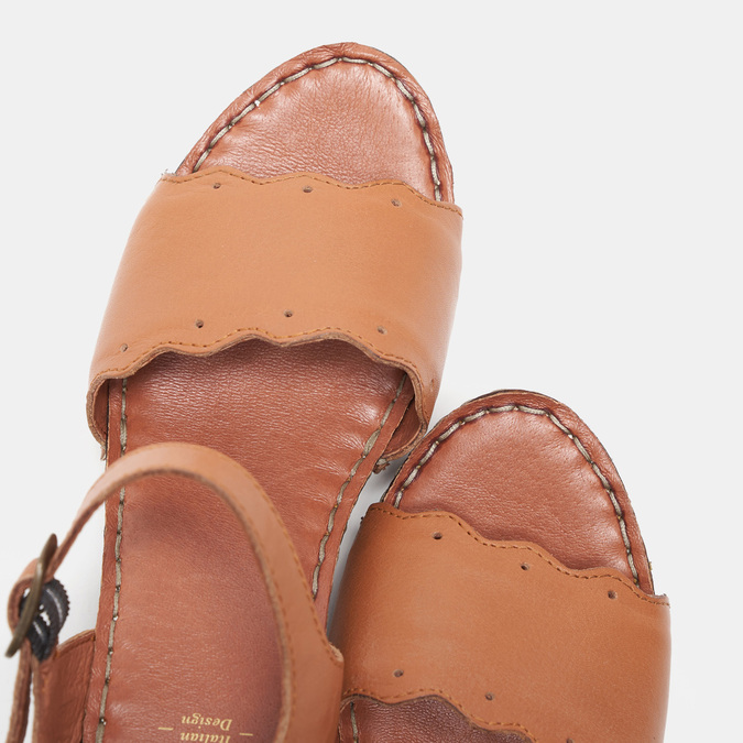 Sandales à talon bata, Brun, 764-4977 - 19