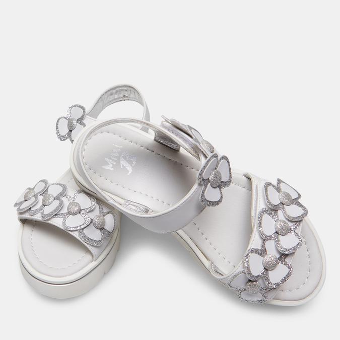 Sandales fille mini-b, Blanc, 361-1411 - 19