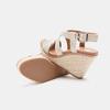 Sandales compensées bata, Blanc, 761-1961 - 16