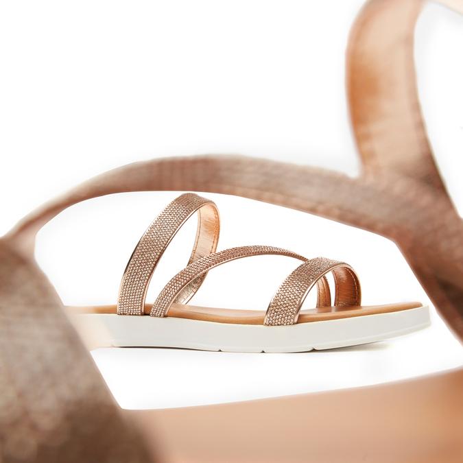 Sandales à bride bata, Rose, 571-5681 - 15