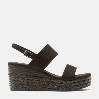 Sandales compensées bata, Noir, 769-6960 - 13